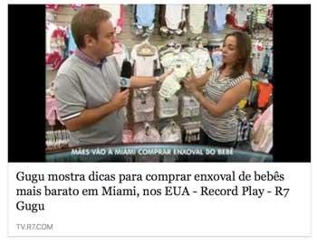 Gugu Priscila Goldenberg programa enxoval bebe Miami