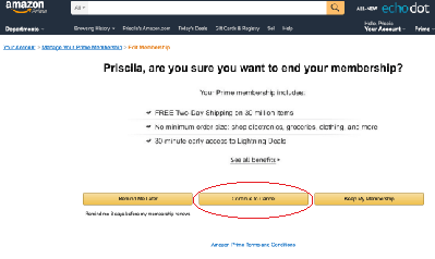 amazon prime cancelar 3