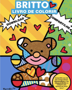 livro de colorir do Romero Britto